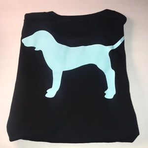 3/$25 💸Oversized PINK T with sea foam blue dog